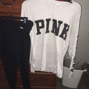 Pink Shirt and legging